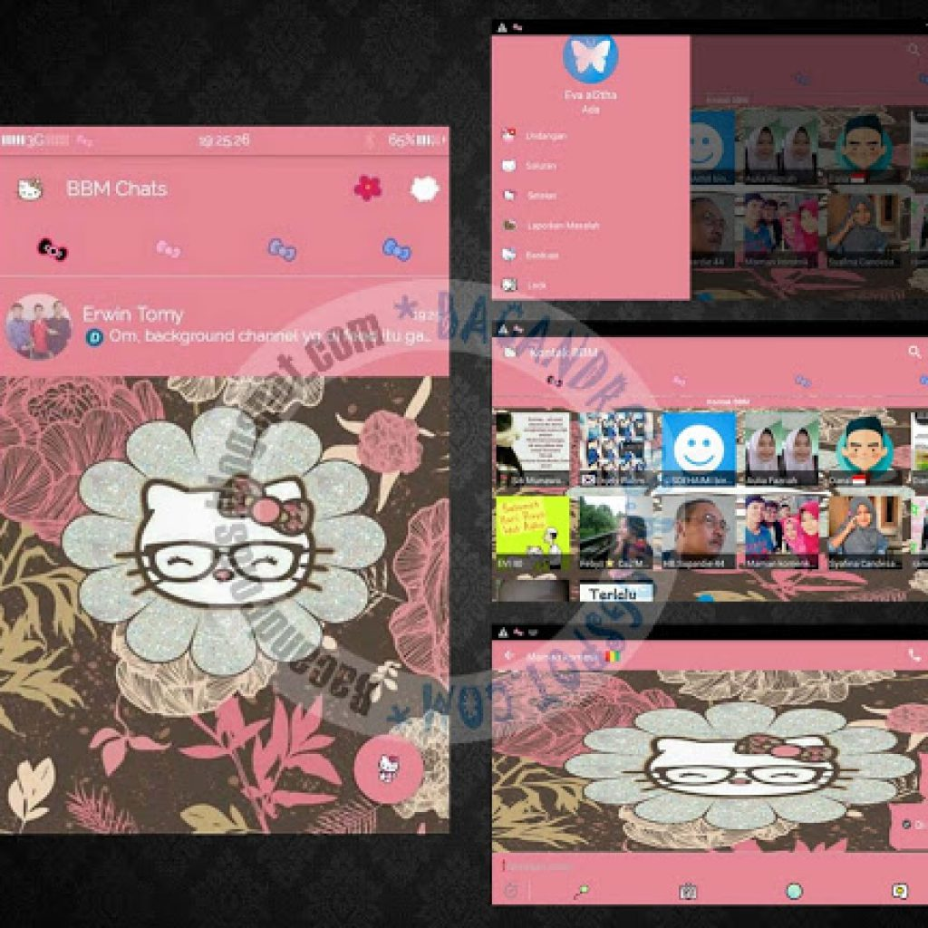 download BBM Mod Thema PinkKitty V2.9.0.51