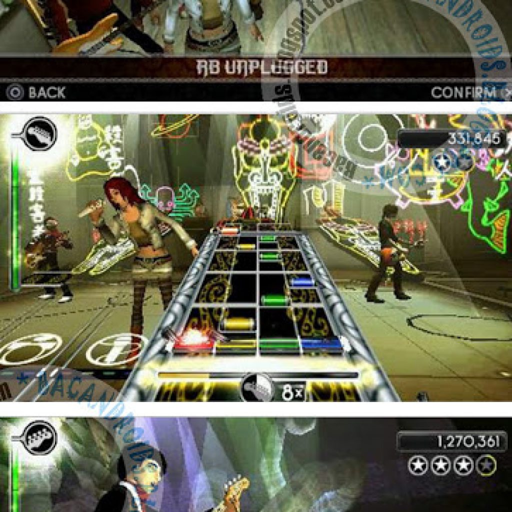 Game Rock Band Unplugged ISO/CSO For PPSSPP Android