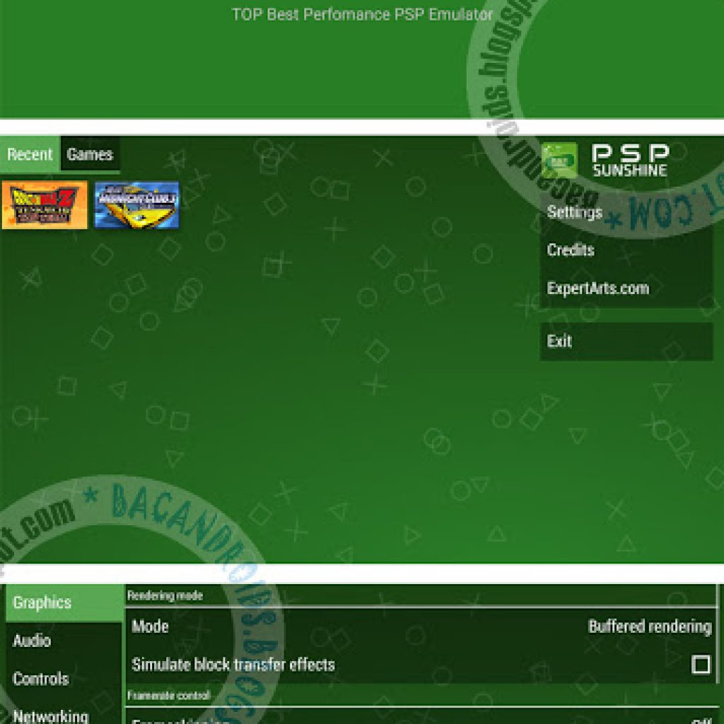 Download Emulator PSP for HP android terbaru Sunshine Mod V1.0
