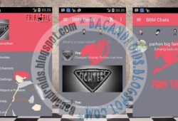 BBM Mod Tema Fairy Tail Versi 2.10.0.31 DualPin/Clone