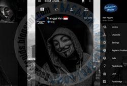 BBM Mod Thema Dark Anonimous Versi 2.10.0.35 Apk Clone