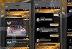BBM Mod Thema BlackGold Versi Terbaru 2.10.0.35 Apk