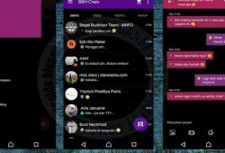BBM Mod Thema Black Minimalist Versi 2.10.0.35 Terbaru With Change Color