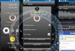 BBM Mod Chat Me Tema Gradient Black Versi 2.10.0.35 Terbaru