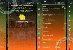 BBM Mod Thema Gradient Transparent With Extra Fitur Versi 2.10.0.35 Apk