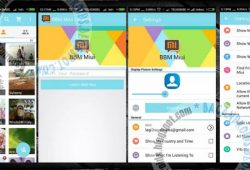 BBM Mod Tema MIUI Material V2.10.0.30 Ocean And Green Full Features