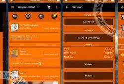 YK-BBM Mod Versi Clone Tema Orange Dark 2.9.0.51 Terbaru(BBM2)