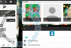 BBM Mod Clone Thema Black White Versi 2.10.0.35 Apk Terbaru