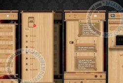 BBM Mod Thema Wood Versi Terbaru 2.9.0.51 Full DP No Crop