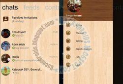 BBM Mod Tema Windows Phone Wood Versi Terbaru 2.10.0.35 Apk