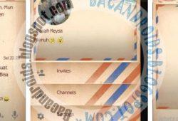 BBM Mod Letter Love Thema Amplop Versi 2.10.0.31 Terbaru
