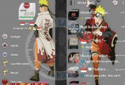 BBM Mod Terbaru DroidChat Thema Naruto Versi 2.9.0.51