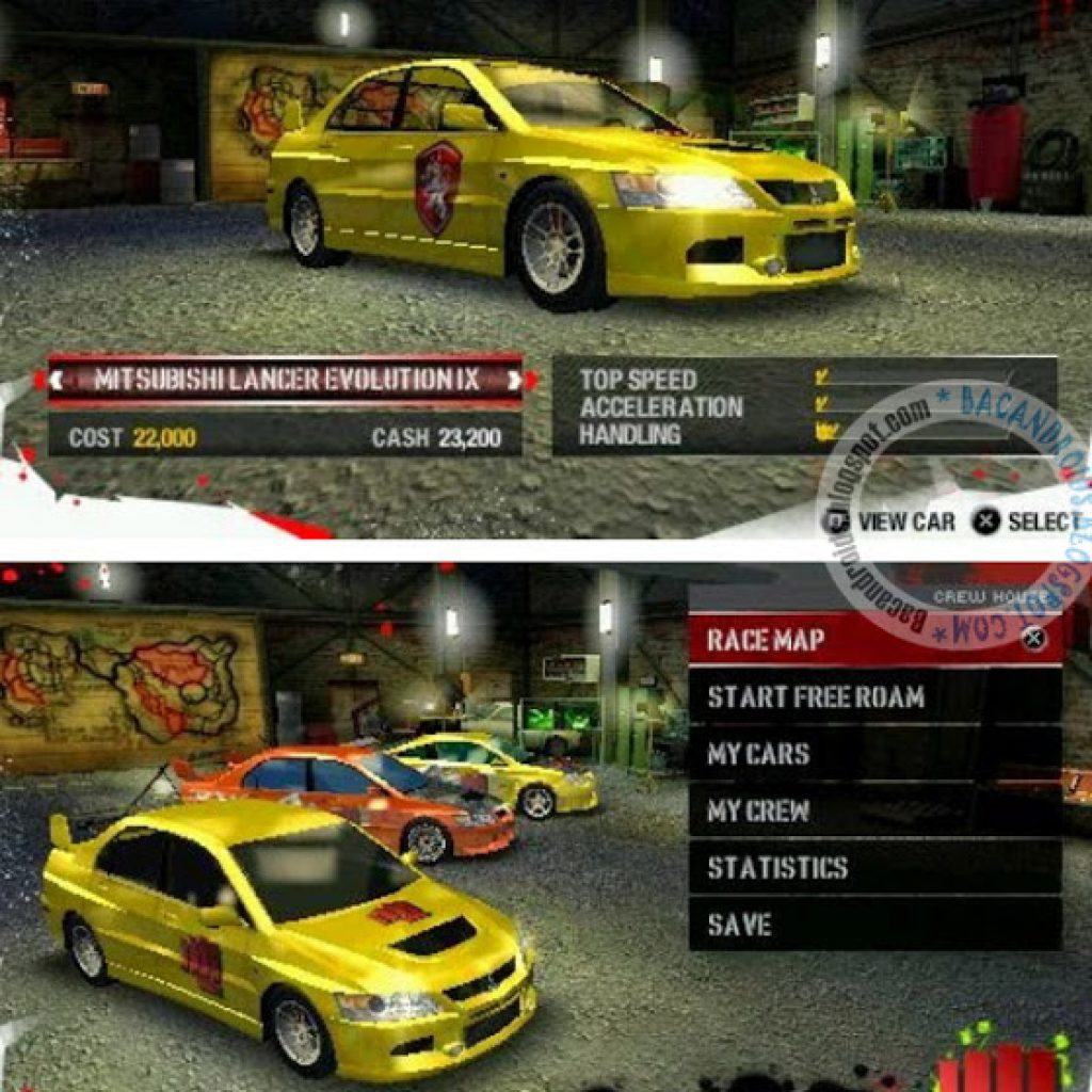 Game PPSSPP Need For Speed Carbon compress CSO/ISO Free