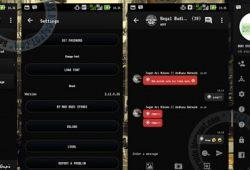 BBM Mod Versi 2.11.0.16 Like Status DP Thema Full Black Terbaru