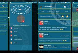 BBM Mod Versi 2.10.0.35 Terbaru Thema BlueFlat With Floating Button