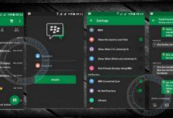 BBM2 Mod Terbaru 2.9.0.51 Tema Green Dark Versi Clone