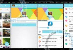 BBM Mod Tema MIUI Material V2.10.0.30 Ocean And Green Full Features