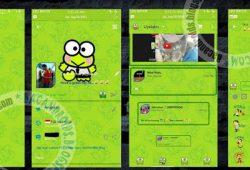BBM Terbaru Mod Versi 2.9.0.51 Tema Green Kerropi With Animated ListView